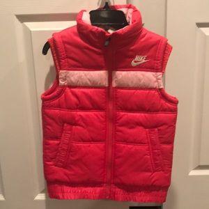 Nike puffer vest- girls